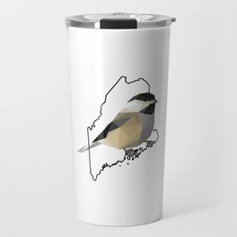 Maine – Black-Capped Chickadee Travel Mug