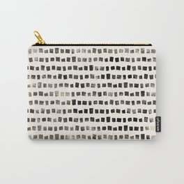 Small Black Squares Carry-All Pouch