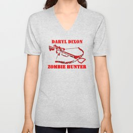 Daryl Dixon- Zombie Hunter Unisex V-Neck