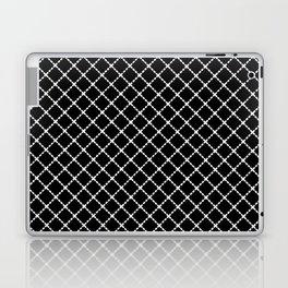 Dotted Grid 45 Black Laptop & iPad Skin