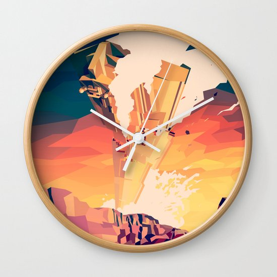 Destroyed Wall Clock