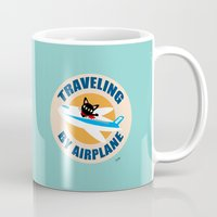 airplane Mugs featuring Airplane by BATKEI
