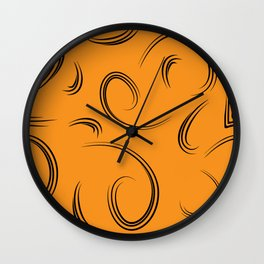 Patterns from curls to represent natural yellow products. Wall Clock
