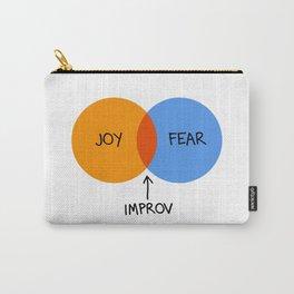 The Venn of Improv (Orange/Blue) Carry-All Pouch