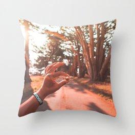Sun Flare Golden Snitch Throw Pillow
