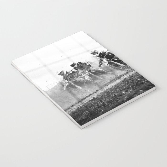 Motocross black white Notebook
