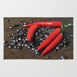 COFFEE and red CHILLI Rug
