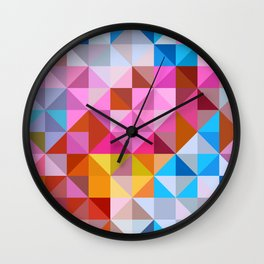 Pattern of repeating elements Wall Clock