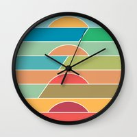 u2 Wall Clocks featuring 4 Degrees by Rick Crane