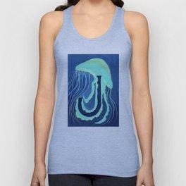 J is for Jellyfish Letter Alphabet Decor Design Art Pattern Unisex Tank Top