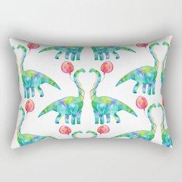 brachiosaurus and balloon pattern Rectangular Pillow