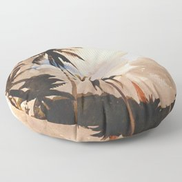 Palm Trees Bahamas Circa 1888 By WinslowHomer | Reproduction Floor Pillow