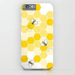Honey Bee Pattern iPhone Case