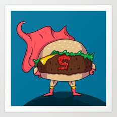 Hamburger Heroes Art Print