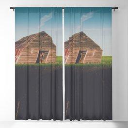 Long Shadows Leaning Barns Blackout Curtain