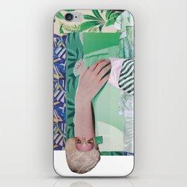 Wanda Goes on Vacation - green modern collage iPhone Skin