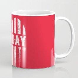 Red Friday Distressed USA Heart Military Coffee Mug