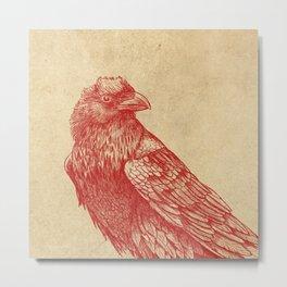 Red Raven  Metal Print