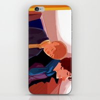 johnlock iPhone & iPod Skins featuring Johnlock on the tube after a case by Sama Ma