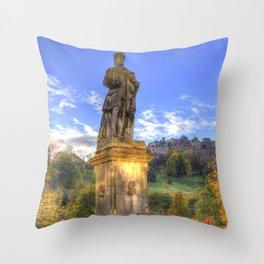 Allan Ramsey And Edinburgh Castle Throw Pillow