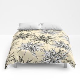 Black and White Squiggles Comforters