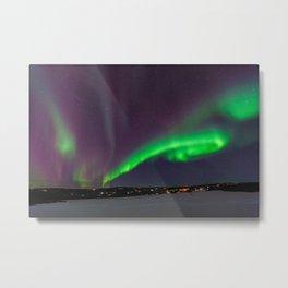 Aurora / Northern Lights, Fairbanks, Alaska   Nature Landscape Travel Photography   Wall Art Decor Metal Print