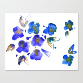 Ghost Violets Canvas Print