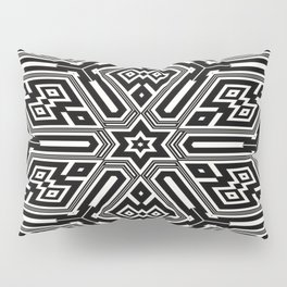 grid black white 3 Pillow Sham
