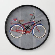 British Bicycle Wall Clock