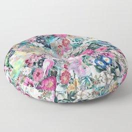 Birds in Flowers Floor Pillow