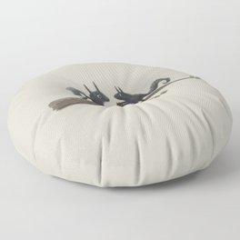 Autumn Squirrels Floor Pillow