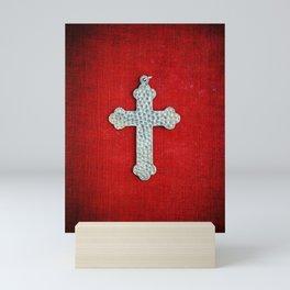 Red Crucifix Mini Art Print