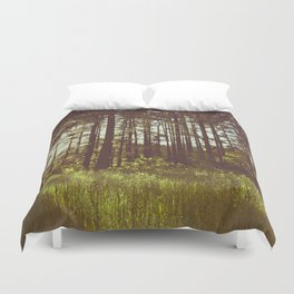 Summer Forest Sunlight - Nature Photography Duvet Cover