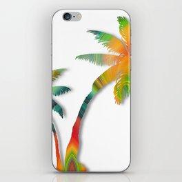 Palm Tree Twirl iPhone Skin