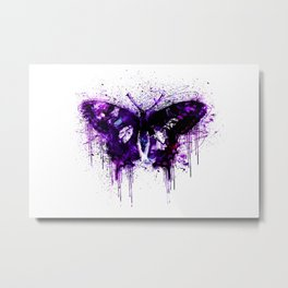 Crazy Butterfly artistic mixed media Metal Print