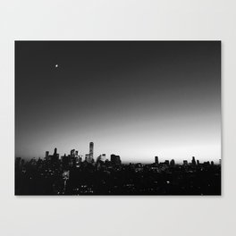 skyline in black and white Canvas Print