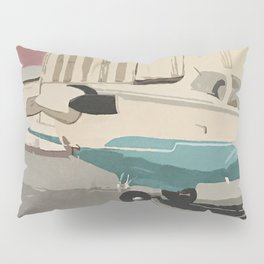 The Mooney-Turquoise Airplane Pillow Sham