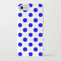 polka dots iPhone & iPod Cases featuring Polka Dots (Blue/White) by 10813 Apparel