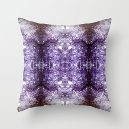 Reflected Amethyst Throw Pillow