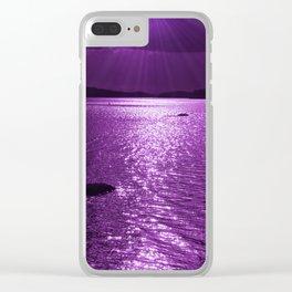 Ultraviolet Lakescene Scandinavian View #decor #society6 #homedecor Clear iPhone Case