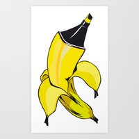 banana Art Prints featuring Banana  by Gaby Yerden