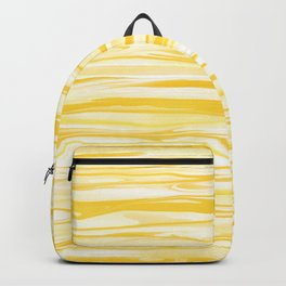 Milk and Honey Yellow Stripes Abstract Backpack