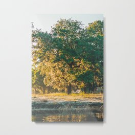 Sunrise by the River Metal Print