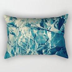 Cracked Rocks Blue Rectangular Pillow