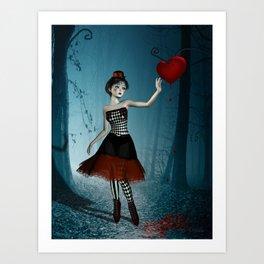 Bleeding heart Art Print