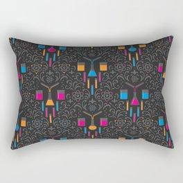 Mad Science Damask Rectangular Pillow