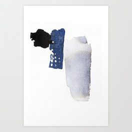 Navy Blue Abstract Art Print
