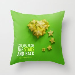 Love You from the Stars and back Throw Pillow