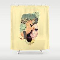aquarius Shower Curtains featuring Aquarius by Francisca Pageo
