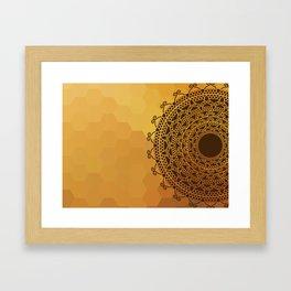 Ethnic Mandala Framed Art Print